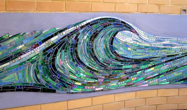 Maureen Elphick Mosaic Design Wave